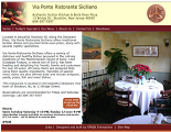 restaurant web page